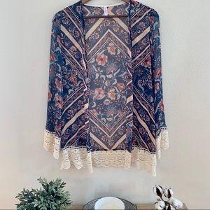 Target Xhilaration brand floral Kimono